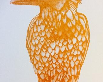 Gold Raven Print