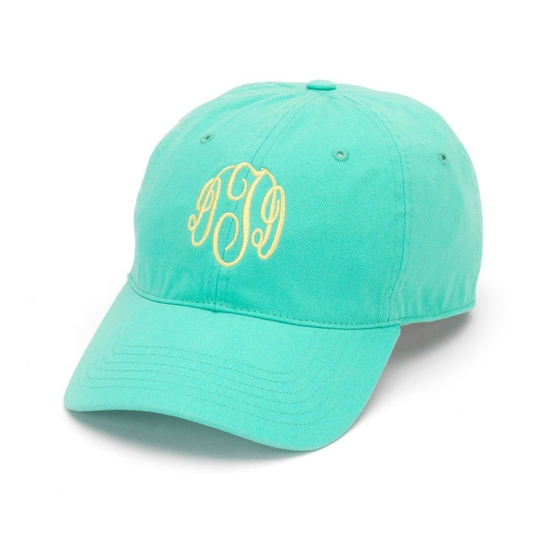 3c89fd7bfb64e Monogrammed Adams 6-Panel Low-Profile Washed Pigment-Dyed Cap