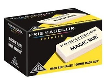 12 Magic Rub Erasers by Prismacolor Premier | Vinyl Eraser, India Ink Eraser, Drafting Eraser