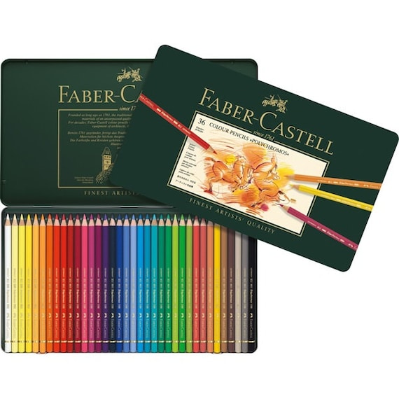 36 faber castell polychromos colored pencils colored pencil etsy