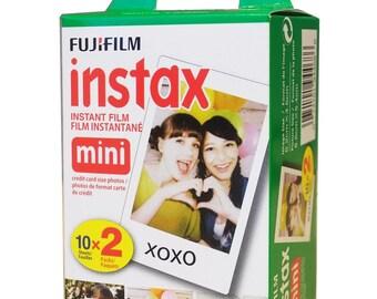 20 Fujifilm Instax Mini Film | Fuji Instax Film, Fuji Film | Fujifilm Instax Mini 8 Film | 20 Sheets | Polaroid Mio, 300 Film | Instant Film