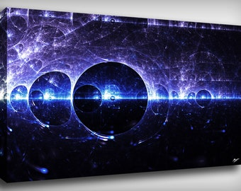 Particle Fractal Canvas Print By CrownosArts