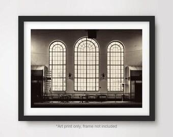 Steam Train Cityscape Railway Black And White Ephemera Vernacular Photography Industrial Buildings ~ 20-01-155 AA Snapshot Photo
