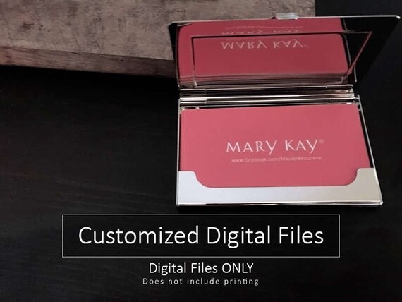 Mary kay business cards design only no printing digital reheart Choice Image
