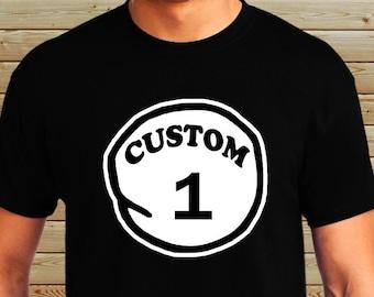 Personalized Custom Thing 1 T Shirt - Thing 1, Thing 2, Thing 3 Shirt - Parody Funny T-Shirt