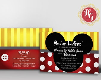 Mickey Mouse Baby Shower Invitation {Printable Design}