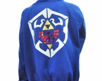 Legend of Zelda sweater hoddie hylian shield triforce majoras mask crest logo