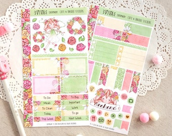 The Flowers of Tomorrow ~ Customizable Mini Sticker Kit for Planners ~ For Travelers Notebook TN, Bullet Journal, Personal Filofax, Kikki K