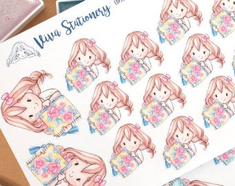 New Edition! Kawaii Girl Planner Lover Decorative Stickers ~Vera~ For your Life Planner, Diary, Journal, Scrapbook...
