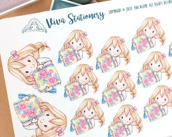 New Edition! Kawaii Girl Planner Lover Decorative Stickers ~Valerie~ For your Life Planner, Diary, Journal, Scrapbook...