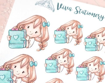 Happy Kawaii Girl Planner Lover ~ Vera ~ For your Life Planner, Diary, Journal, Scrapbook...