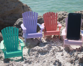 wood Adirondack Chair cell phone stand, laser cut, hand assembled, painted wood, Mothers day gift, Fathers day gift