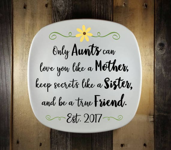 New Aunt Gift Gift Idea For Sister Only Aunts Sign Aunt Sign Personalized Custom Aunt Sign Hand Painted Plate Gift Idea For Aunt