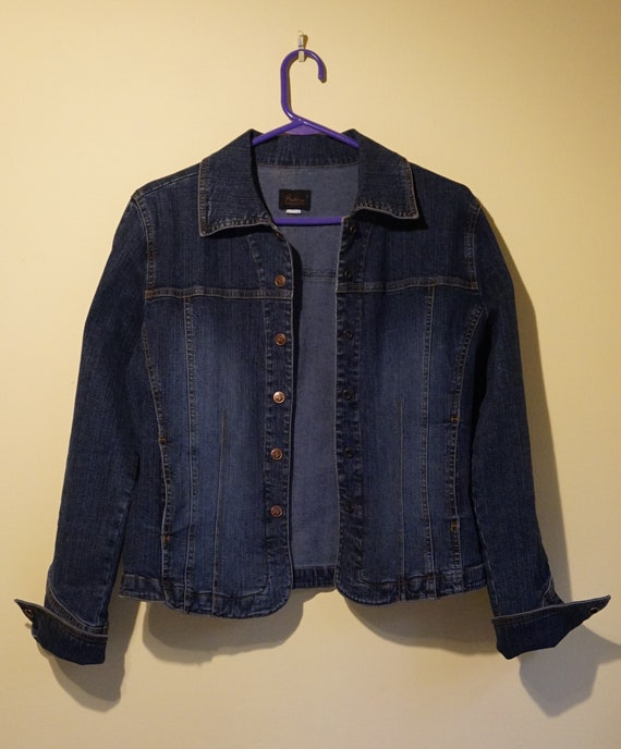 Vintage Riders Denim Jean Jacket, Snap Front Jean