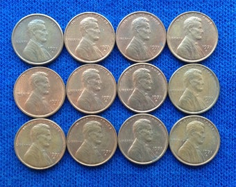 1971 Plain LINCOLN MEMORIAL PENNY Number G3 A Gem Uncirculated coin Free U S Shipping *