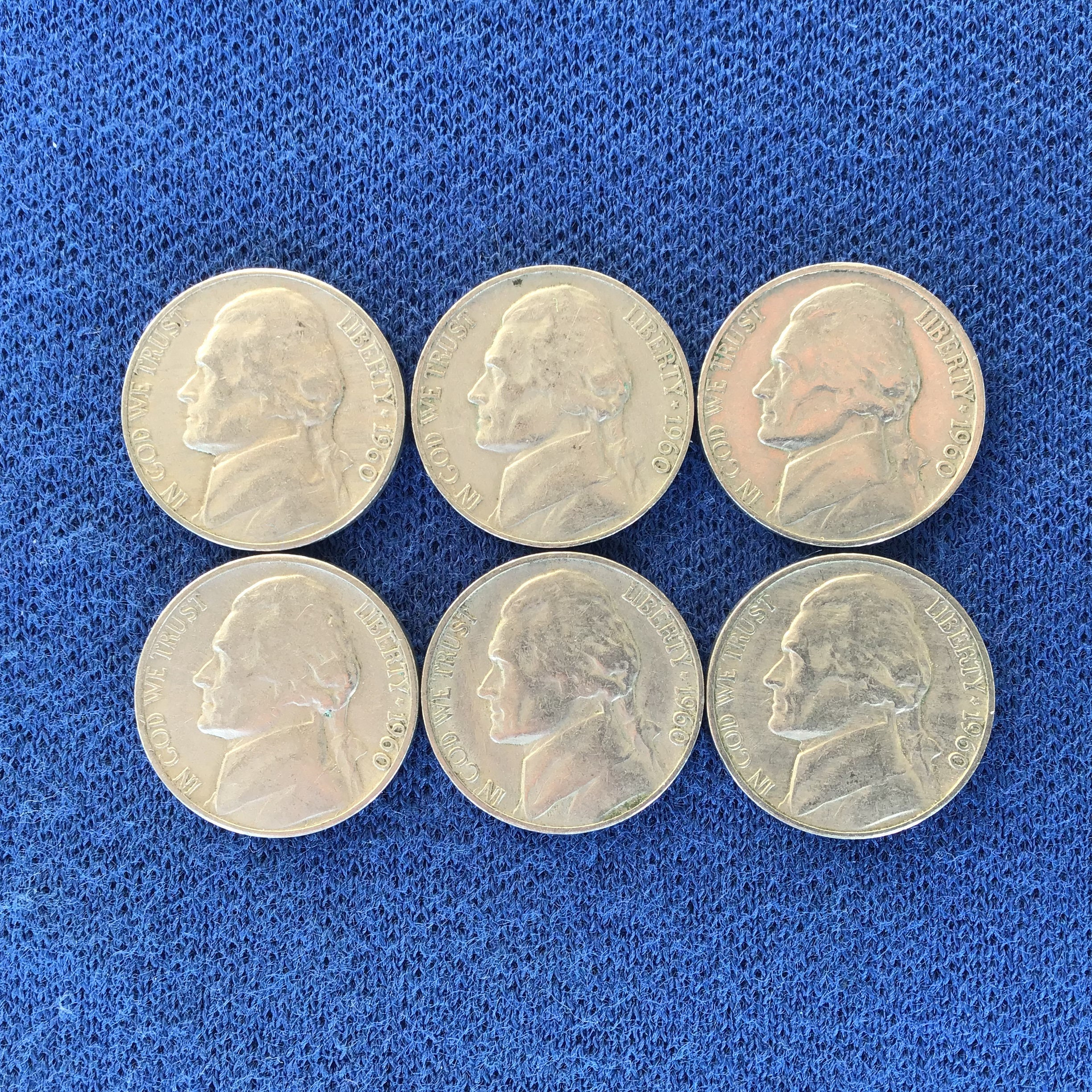 1960 D Vintage Jefferson Nickel, Old US Coins, Rare Nickels for Coin  Collecting