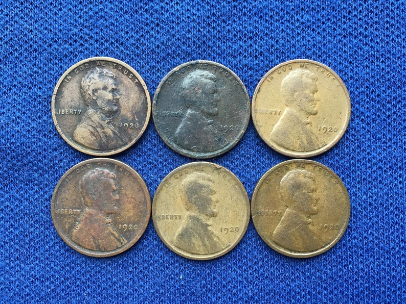 1920 P Lincoln Wheat Penny Old US Coins For Rare Coin Collecting