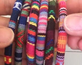 Tribal bracelet, festival bracelet, hippy bracelet, colourful bracelet, rainbow bracelet,