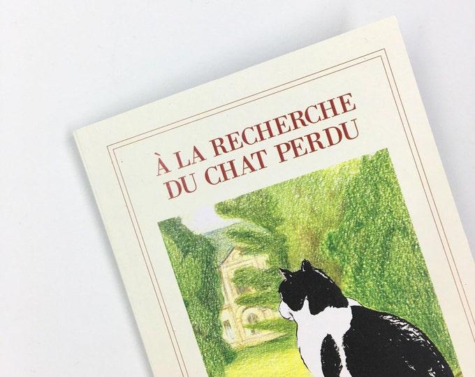 À la Recherche du chat perdu - A6 notebook - recycled dotted pages