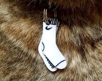 Socks leaves dog or cat tag - Custom Pet ID Tag