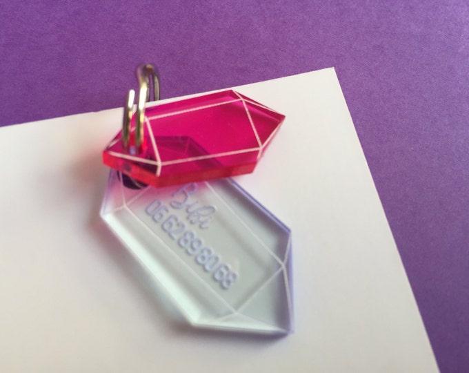 Médaillon pour chat - Cristal rose