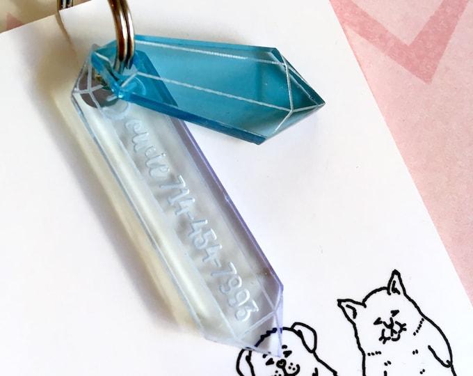 Médaillon pour chien - Cristal bleu