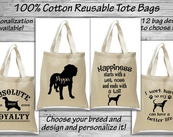 d German Shepherd Natural Cotton Tote Bag with Gusset and Long Handles