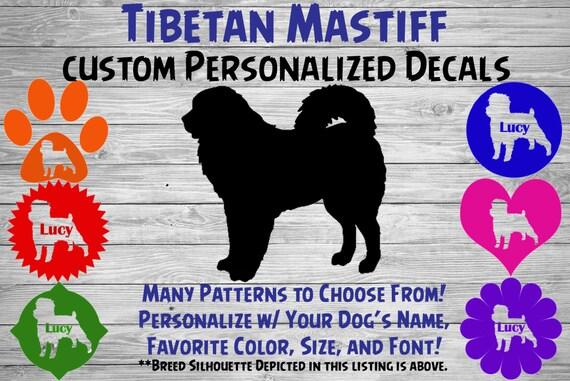 HIGH QUALITY Color Choice Vinyl Decal Sticker Tibetan Mastiff