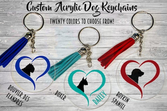 a Keyring with a Dog Bouvier