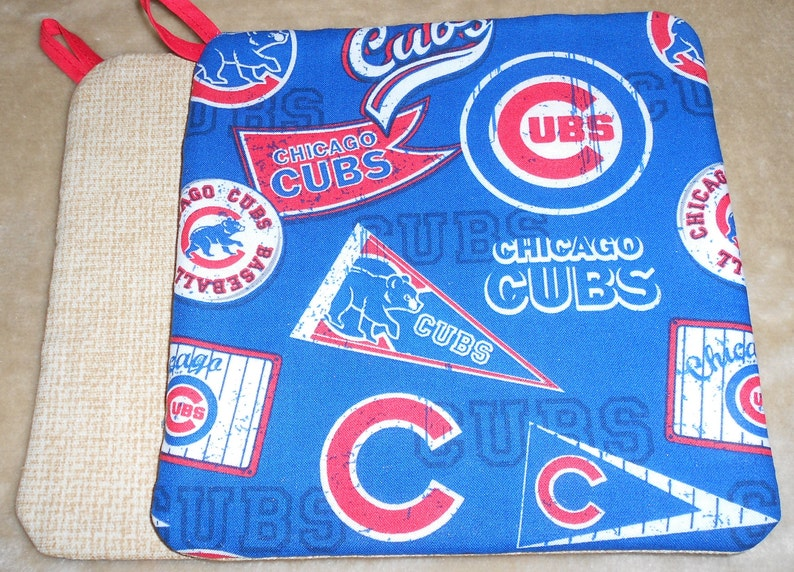 Variety of Chicago Cubs Baseball Pot Holders