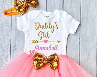 e5fea146 Girls Father's Day Outfit, Daddy's Girl, 1st Father's Day Girl, First  Father's Day Outfit Daddy's Princess Fathers Day Shirt