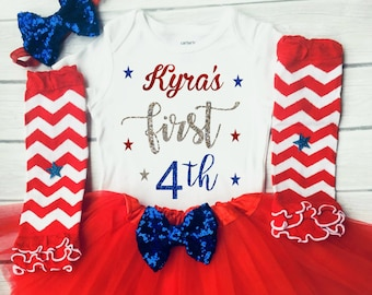 1st 4th of July outfit, first 4th of July, Girls 4th of July, Girls 4th of July outfits, Fourth July outfit, baby girl outfit