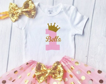 a2601b1d0ed2 First birthday outfit girl