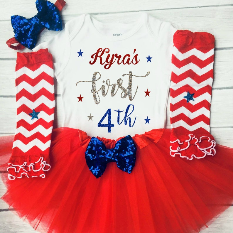 1st 4th of July outfit first 4th of July Girls 4th of July image 0