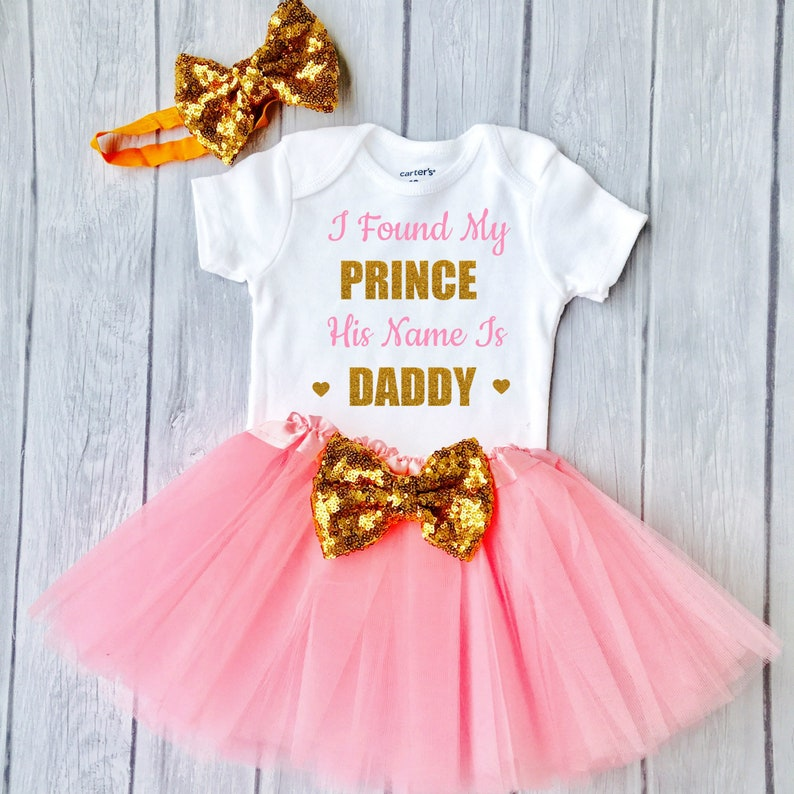 19cdf081394 Girls Fathers Day Outfit Father's Day Outfit I Found My Prince His Name Is  Daddy Daddy's Princess Fathers Day Gift Fathers Day Shirt