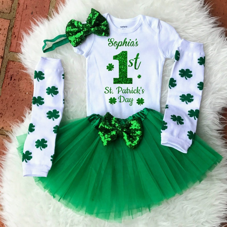 1st St Patricks Day Baby St Patricks Day Outfit First St image 0