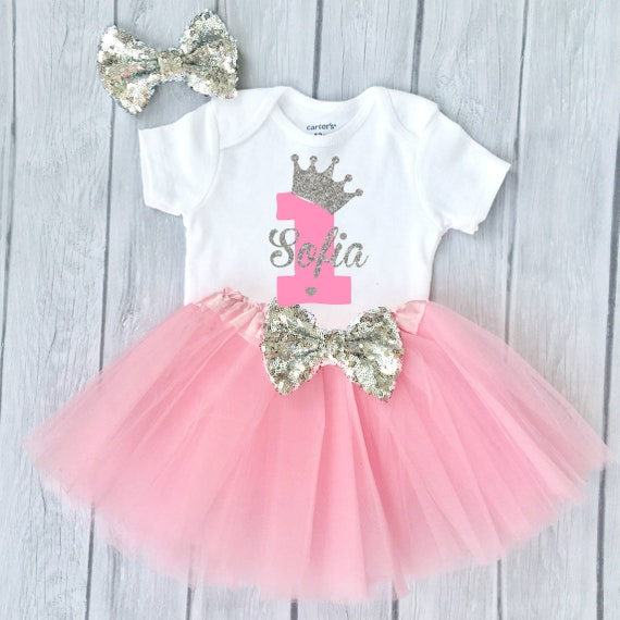 Girl First Birthday Outfit 1st Birthday Girl Outfit Funmunchkins First Birthday Outfit Girl