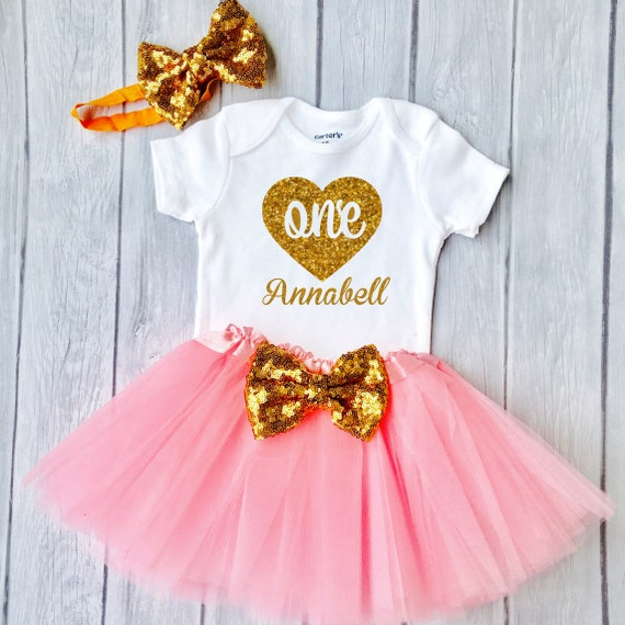 1st Birthday Girl Outfit Baby First