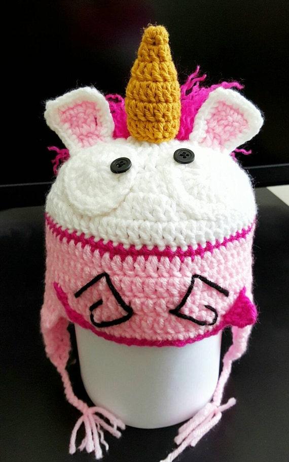 Unicorn Despicable Me Crochet Hatdespicable Me Hatunicorn Etsy
