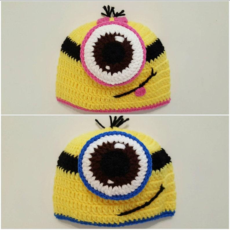 Minion hatminion crochet hatcrochet minion hatnewborn  41dff42aac7