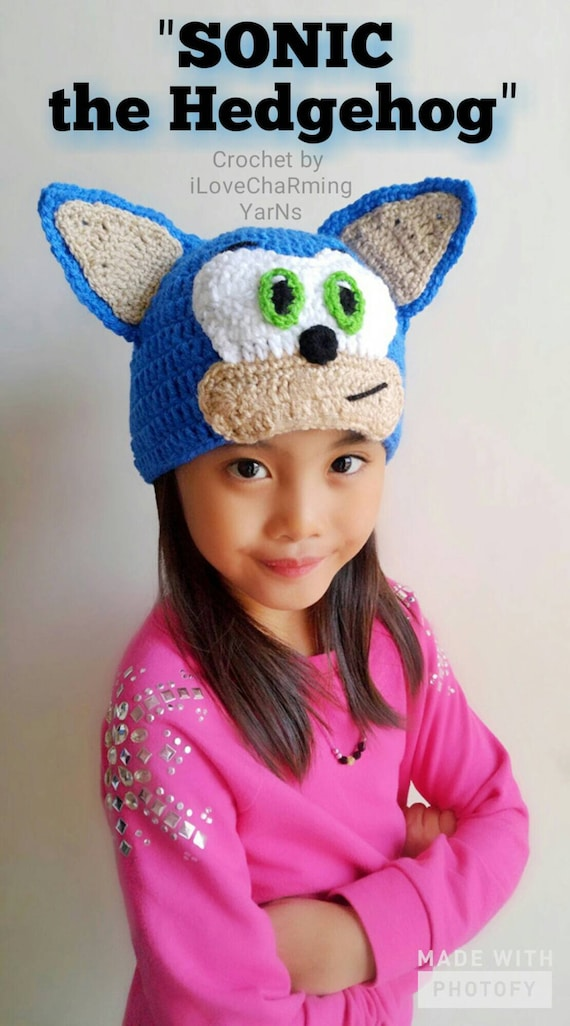 Sonic Hatsonic Crochet Hat Sonic The Hedgehog Crochet Etsy