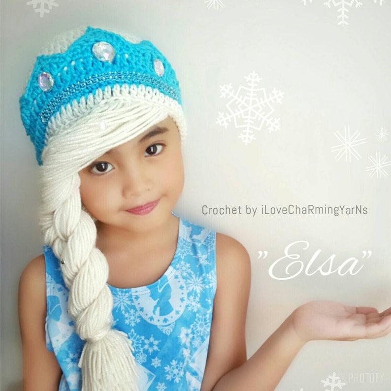 Anna Braid Wig Hatanna Frozen Crochet Hatana Anna Hatdisney Etsy