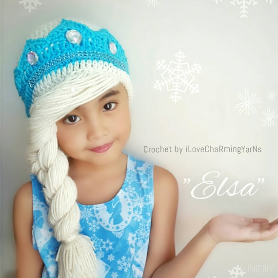 811d0fb89c6 Elsa braidelsa frozen hatdisney crochet hatcrochet elsa