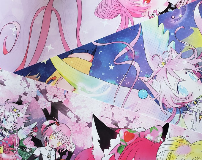 11 x 17 posters- Magical girl meetup, Sailor moon dark lady and Magical Princess Sky.