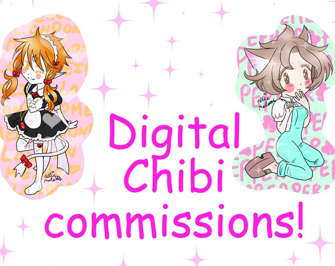 Simple chibi digital commission custom art - kawaii manga/anime style. Can be fanart, original character, portrait etc.