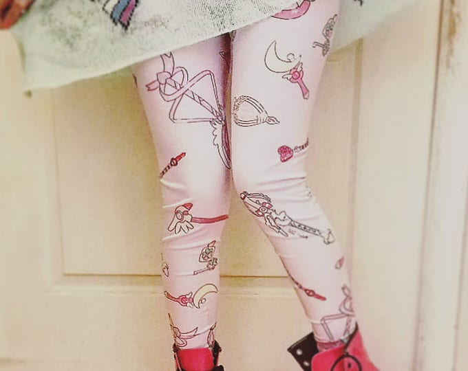 Magical girl wand leggings
