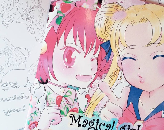 Magical girl coloring book