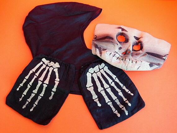 Vintage Halloween Costume, Vintage Skeleton Costu… - image 2