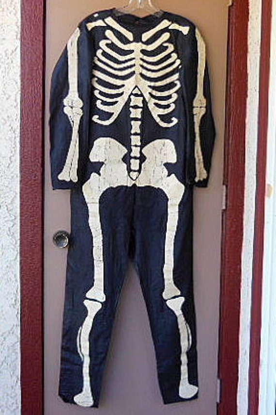Vintage Halloween Costume, Vintage Skeleton Costu… - image 10