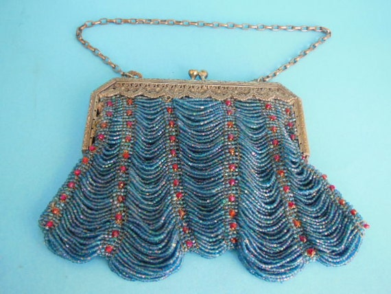 Victorian Purse, Vintage Beaded Purse, Victorian B
